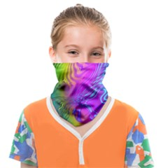 Psychedelic Swirl Trippy Abstract Art Face Covering Bandana (kids) by SpinnyChairDesigns