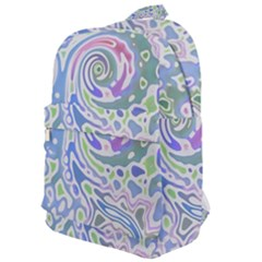 Colorful Pastel Floral Swirl Watercolor Pattern Classic Backpack by SpinnyChairDesigns
