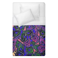 Purple Abstract Butterfly Pattern Duvet Cover (single Size) by SpinnyChairDesigns