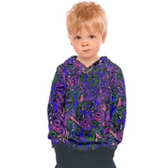 Purple Abstract Butterfly Pattern Kids  Overhead Hoodie by SpinnyChairDesigns