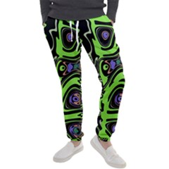 Green And Black Abstract Pattern Men s Jogger Sweatpants by SpinnyChairDesigns