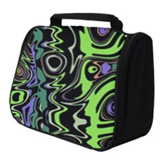 Green And Black Abstract Pattern Full Print Travel Pouch (small) by SpinnyChairDesigns