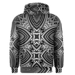 Black And White Intricate Pattern Men s Core Hoodie by SpinnyChairDesigns