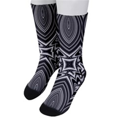 Black And White Intricate Pattern Men s Crew Socks