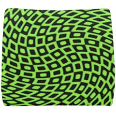 Abstract Black And Green Checkered Pattern Seat Cushion