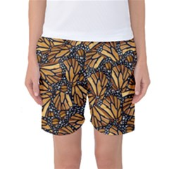 Monarch Butterfly Wings Pattern Women s Basketball Shorts