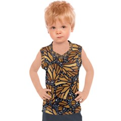 Monarch Butterfly Wings Pattern Kids  Sport Tank Top