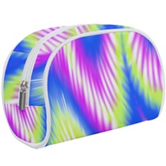 Colorful Blue Purple Pastel Tie Dye Pattern Makeup Case (large) by SpinnyChairDesigns