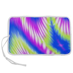 Colorful Blue Purple Pastel Tie Dye Pattern Pen Storage Case (s)