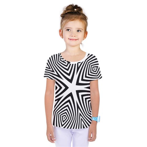 Abstract Zebra Stripes Pattern Kids  One Piece Tee by SpinnyChairDesigns