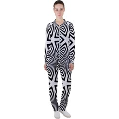 Abstract Zebra Stripes Pattern Casual Jacket And Pants Set by SpinnyChairDesigns