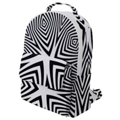 Abstract Zebra Stripes Pattern Flap Pocket Backpack (small) by SpinnyChairDesigns