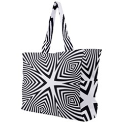 Abstract Zebra Stripes Pattern Simple Shoulder Bag by SpinnyChairDesigns