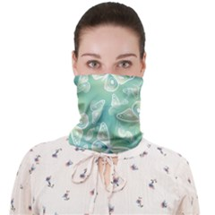Turquoise Light Green Butterfly Pattern Face Covering Bandana (adult)