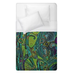 Jungle Print Green Abstract Pattern Duvet Cover (single Size) by SpinnyChairDesigns