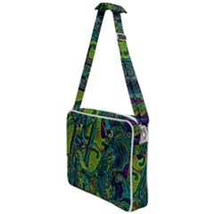 Jungle Print Green Abstract Pattern Cross Body Office Bag