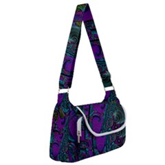 Purple Teal Abstract Jungle Print Pattern Multipack Bag by SpinnyChairDesigns