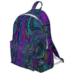 Purple Teal Abstract Jungle Print Pattern The Plain Backpack by SpinnyChairDesigns