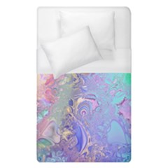 Pastel Marble Paint Swirl Pattern Duvet Cover (single Size) by SpinnyChairDesigns