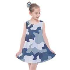 Camo Blue Kids  Summer Dress by MooMoosMumma