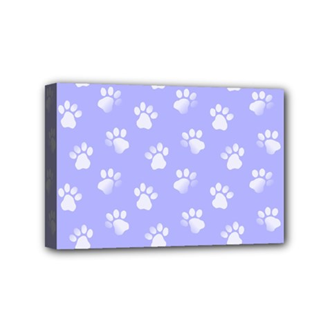 Animal Cat Dog Paw Prints Pattern Mini Canvas 6  X 4  (stretched)