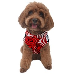 Black Red White Abstract Stripes Dog Sweater by SpinnyChairDesigns