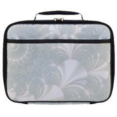 Mint Cream And White Intricate Swirl Spiral Full Print Lunch Bag
