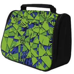 Green Blue Abstract Grunge Pattern Full Print Travel Pouch (big) by SpinnyChairDesigns