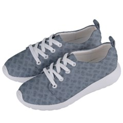 Grey Diamond Plate Metal Texture Women s Lightweight Sports Shoes by SpinnyChairDesigns