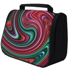 Red Green Swirls Full Print Travel Pouch (big) by SpinnyChairDesigns