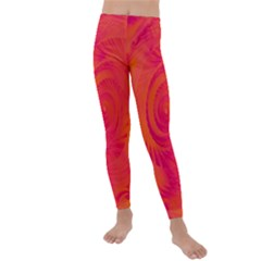 Pink And Orange Swirl Kids  Lightweight Velour Leggings