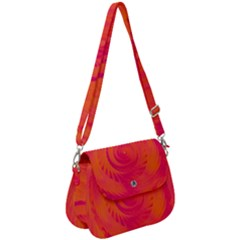 Pink And Orange Swirl Saddle Handbag by SpinnyChairDesigns