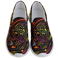 Abstract Tribal Swirl Men s Lightweight Slip Ons by SpinnyChairDesigns