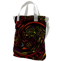 Abstract Tribal Swirl Canvas Messenger Bag