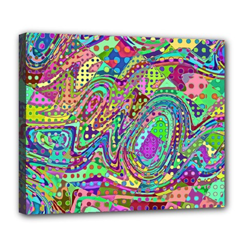 Ugliest Pattern In The World Deluxe Canvas 24  X 20  (stretched)