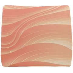 Coral Peach Swoosh Seat Cushion
