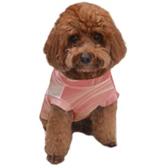 Coral Peach Swoosh Dog T-shirt by SpinnyChairDesigns