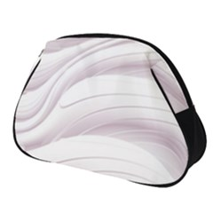 Pale Pink And White Swoosh Full Print Accessory Pouch (small)
