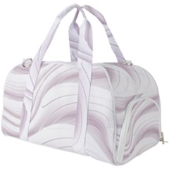 Pale Pink And White Swoosh Burner Gym Duffel Bag