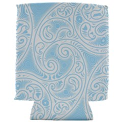 Light Blue And White Abstract Paisley Can Holder by SpinnyChairDesigns