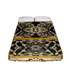 Antique Black And Gold Fitted Sheet (full/ Double Size) by SpinnyChairDesigns