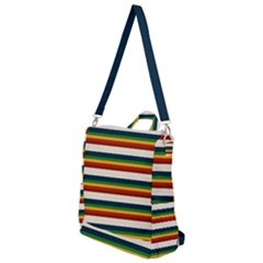 Rainbow Stripes Crossbody Backpack by tmsartbazaar