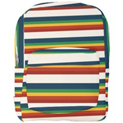 Rainbow Stripes Full Print Backpack by tmsartbazaar
