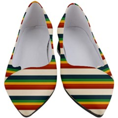 Rainbow Stripes Women s Block Heels  by tmsartbazaar