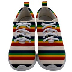 Rainbow Stripes Mens Athletic Shoes by tmsartbazaar