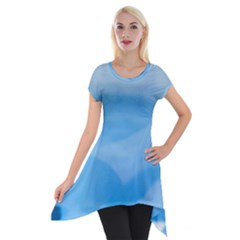 Aquamarine Short Sleeve Side Drop Tunic