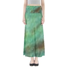 True Turquoise Full Length Maxi Skirt