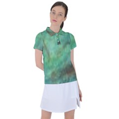 True Turquoise Women s Polo Tee