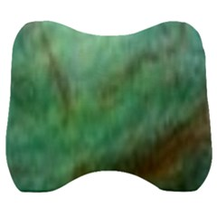 True Turquoise Velour Head Support Cushion
