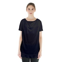 Rich Ebony Skirt Hem Sports Top